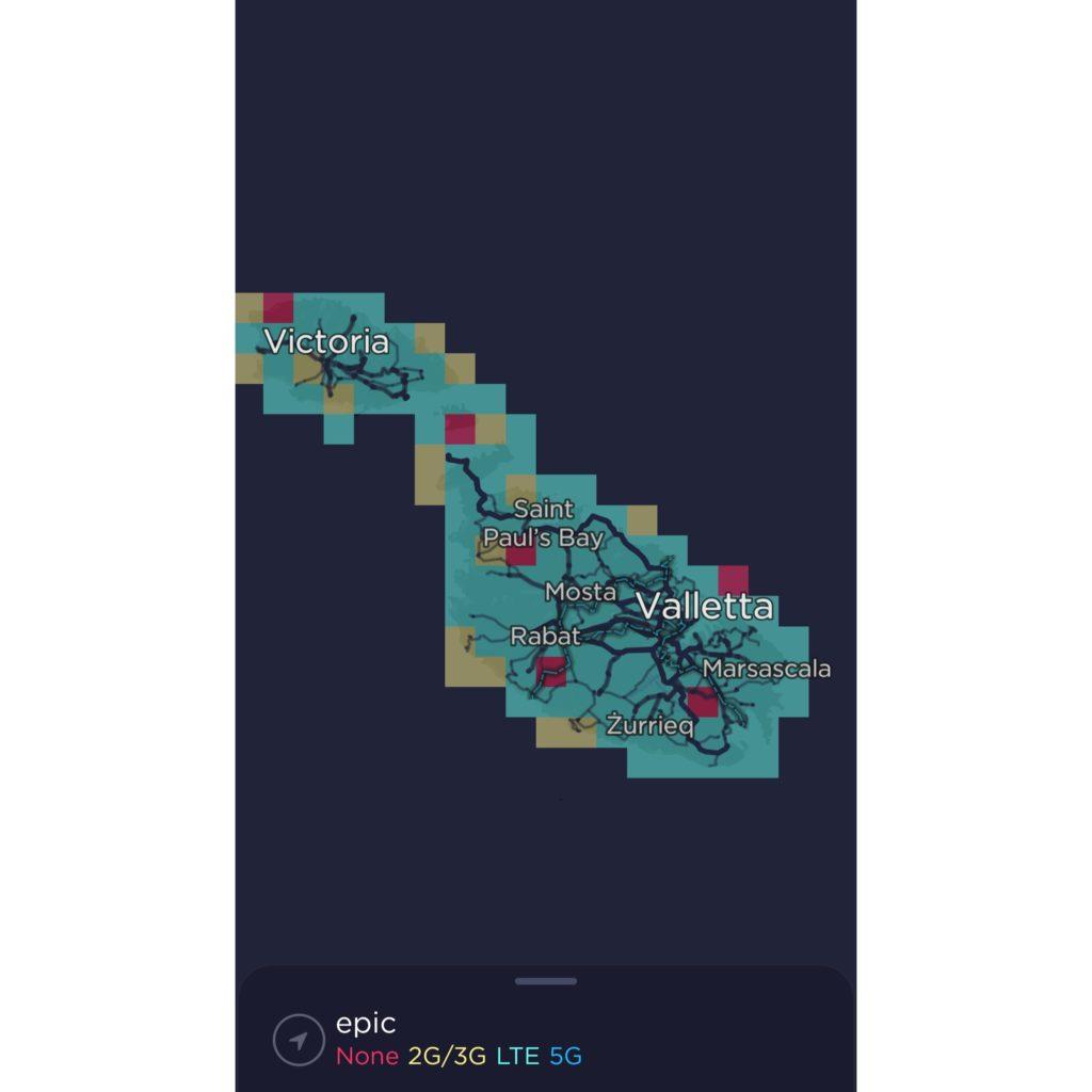 Epic Malta Coverage Map