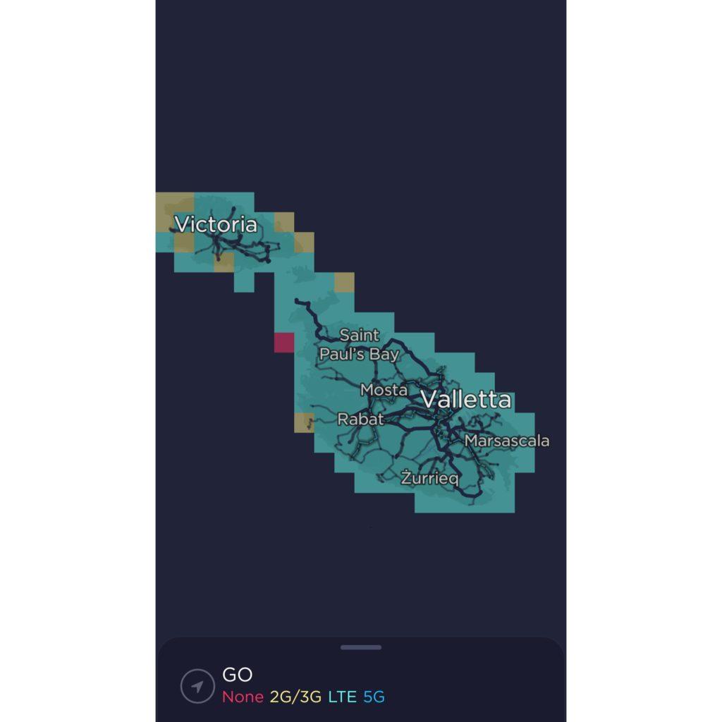 GO Malta Coverage Map