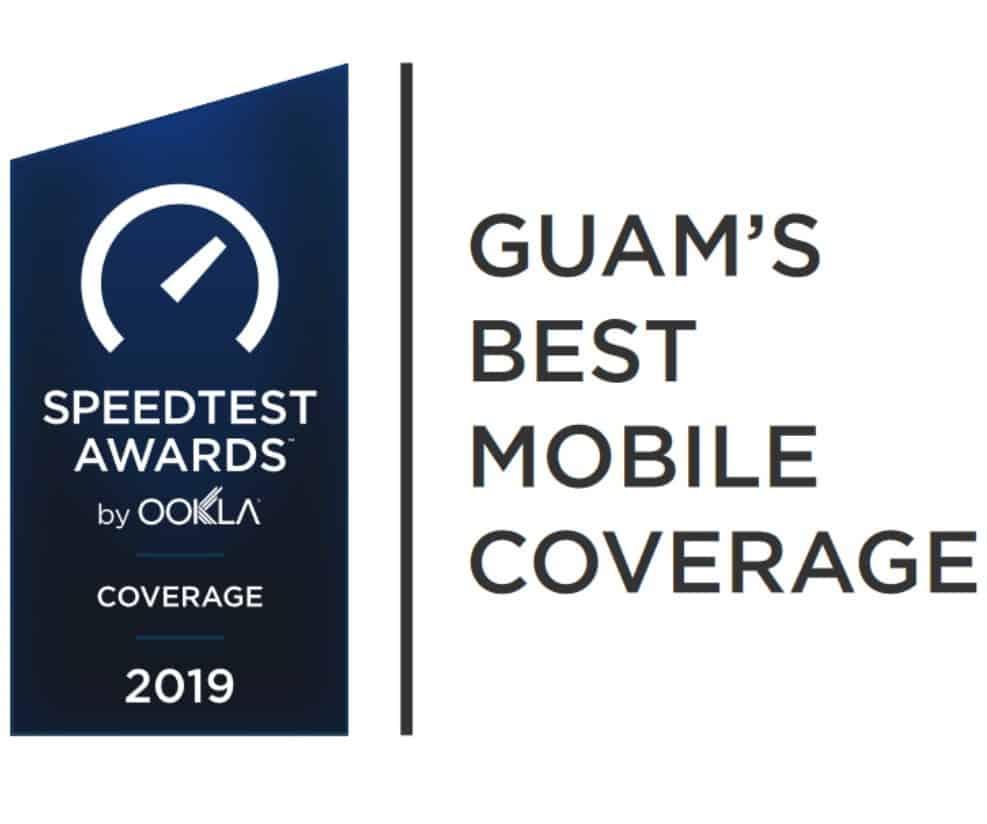 Guam Speedtest Awards Best Mobile Coverage 2019
