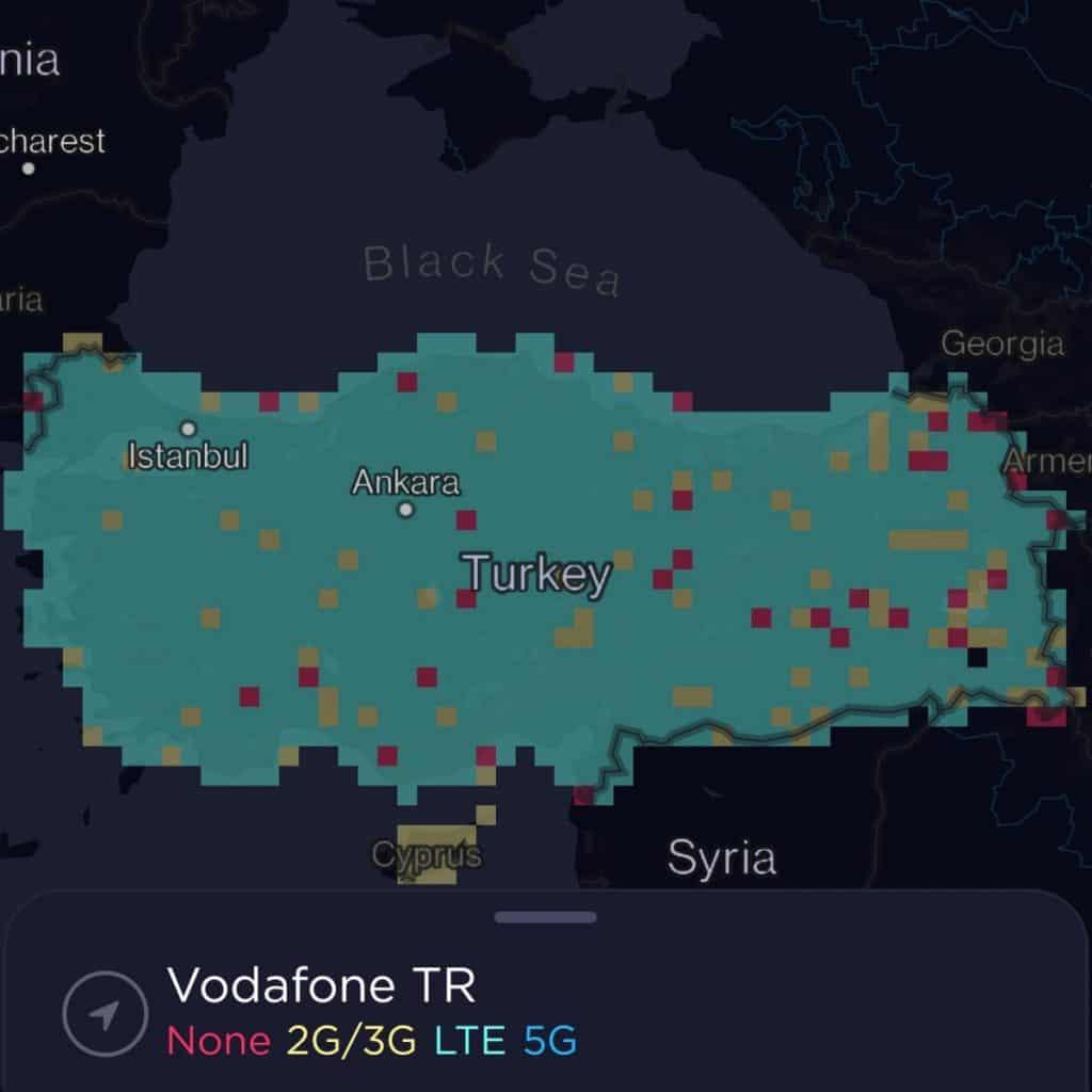 Vodafone Turkey Coverage Map