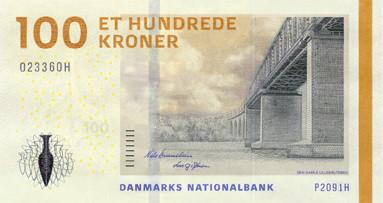 100 Danish Kroner Bank Note
