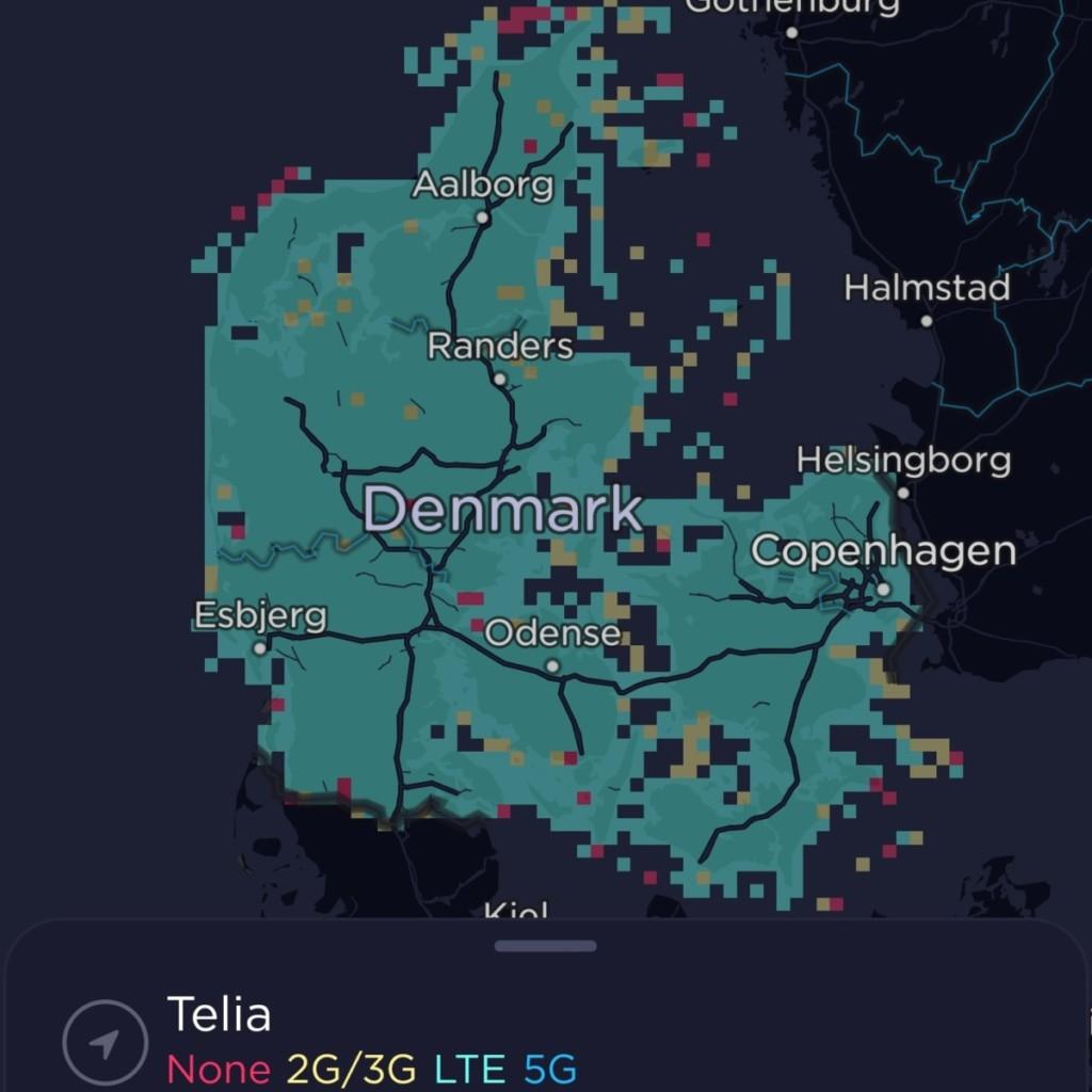 Telia Denmark Coverage Map