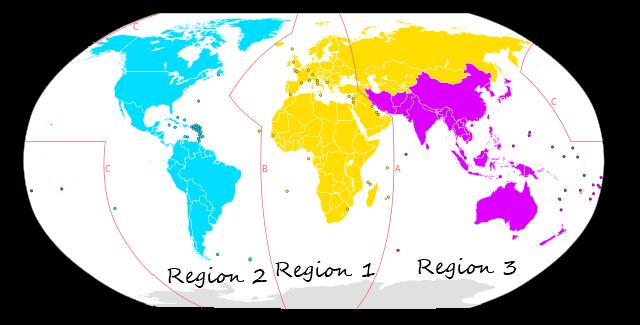 ITU Regions Map