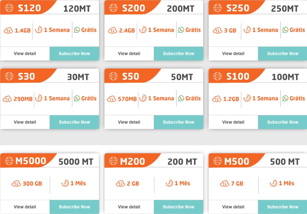 Movitel Mozambique Internet Móvel Plans